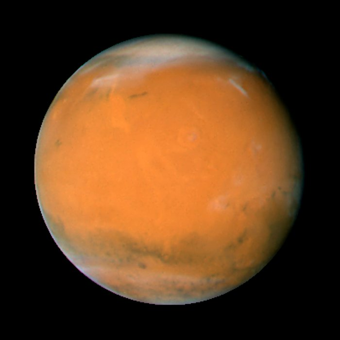 Mars on Dec. 3, 2007; longitude ~225 degrees