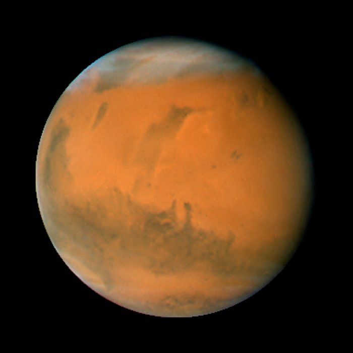 Mars on Dec. 7, 2007; longitude ~140 degrees