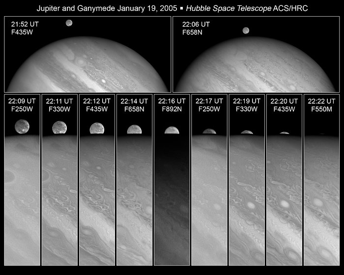 Ganymede disappears behind Jupiter