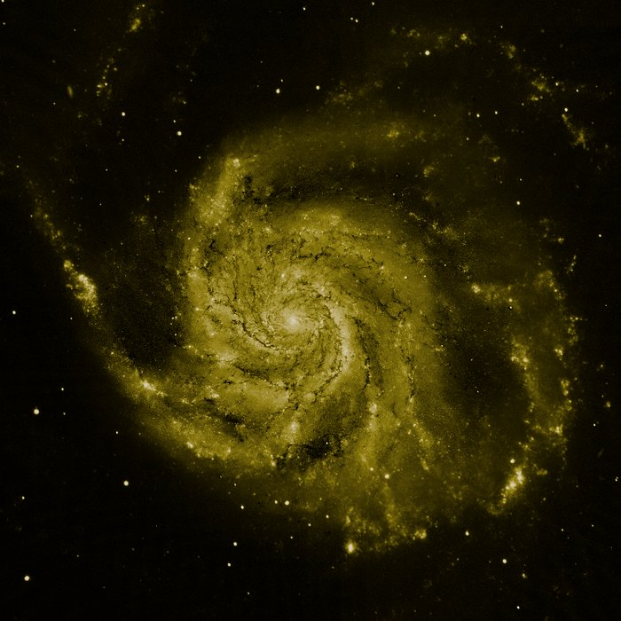 M101 composite image: Hubble data (green component)