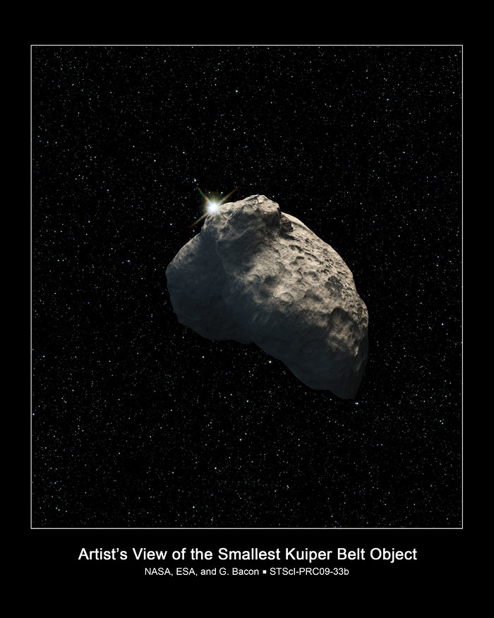 Smallest Kuiper Belt Object detected (artist's impression)