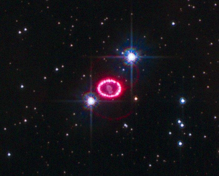 Shocked region around SN 1987A