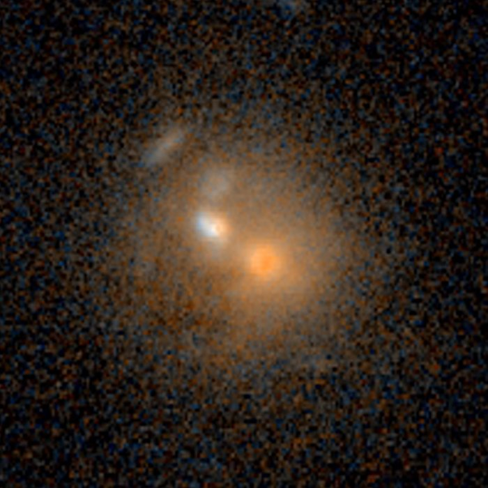 Merging galaxies — 3 billion light-years from Earth