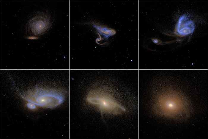 Simulated images of merging galaxies
