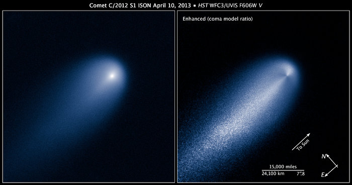 Compass and scale image for Comet ISON