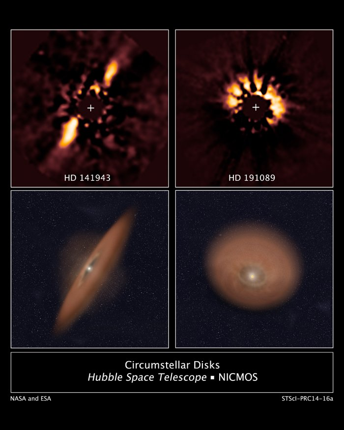 Circumstellar Disks HD 141943 and HD 191089