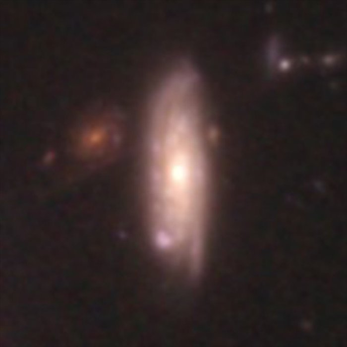 Hubble galaxy at redshift z = 0.26