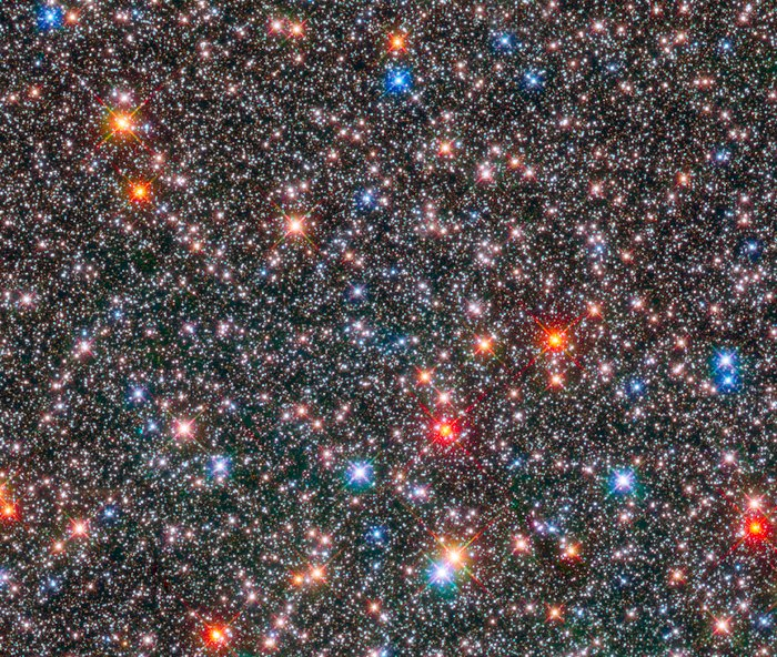 Hubble captures glittering crowded hub of our Milky Way