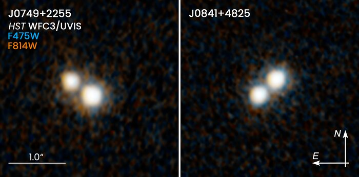 Hubble Resolves Two Pairs of Quasars