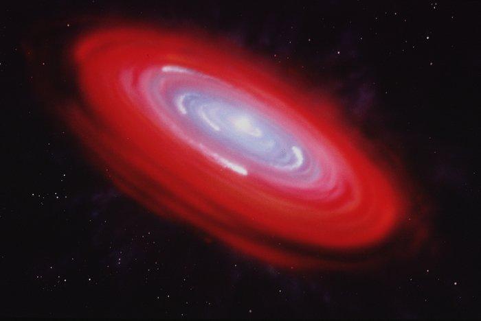 Artist's illustration of Beta Pictoris gas disk