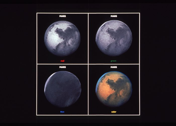 Mars, Three-color Composite