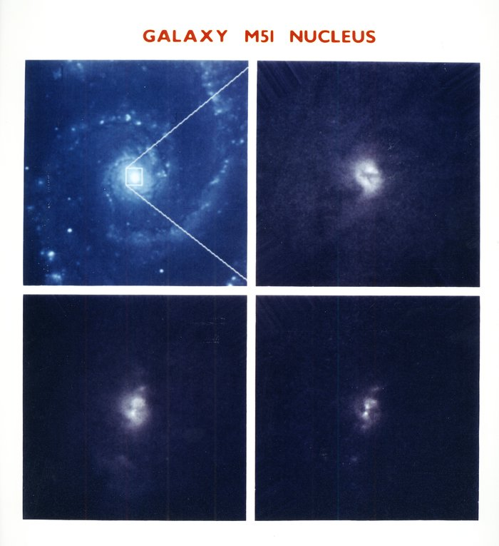 X structure at core of M51 whirlpool galaxy