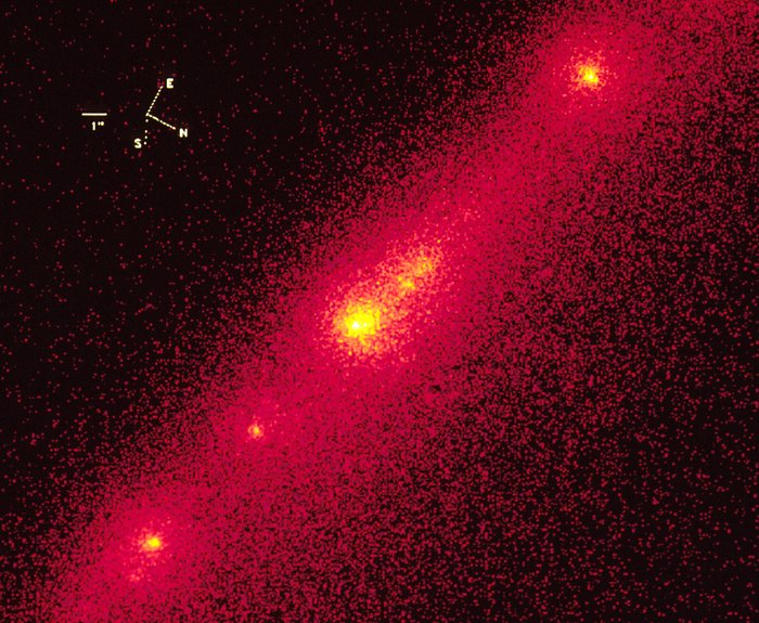 Hubble Close-Up of Bright Nucleus in Comet P/Shoemaker-Levy 9