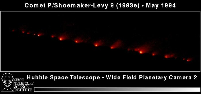 Hubble's Panoramic Picture of Comet P/Shoemaker-Levy 9