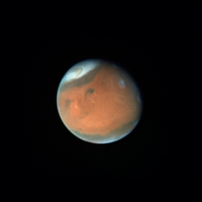 Mars in October 1996