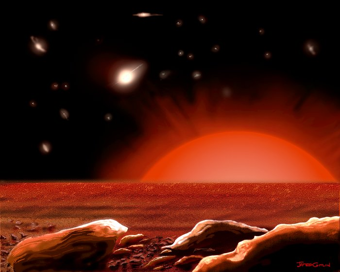 Intergalactic Vista From A Lonely Star (artist's impression)