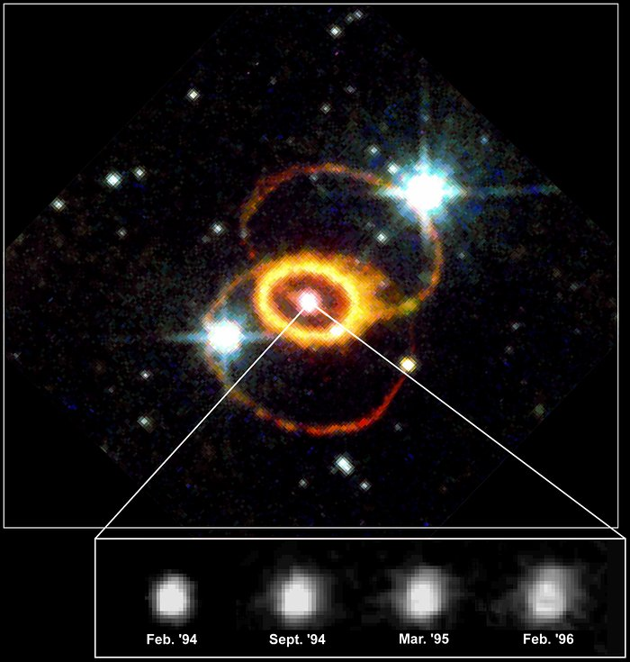 Hubble Reveals Structure Of Supernova 1987a Explosion Debris