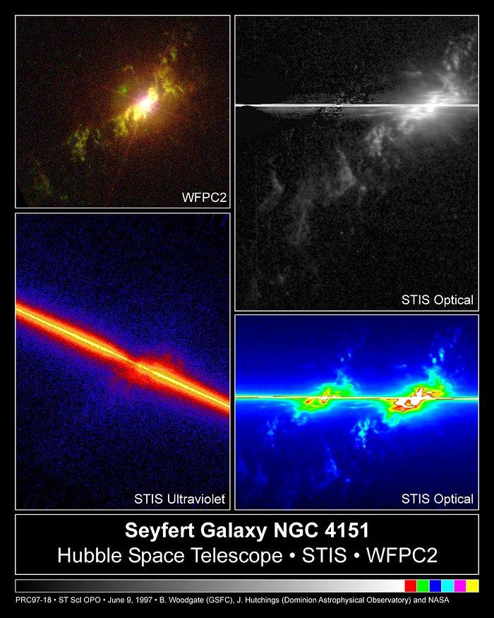 Fireworks near Galaxy NGC 4151
