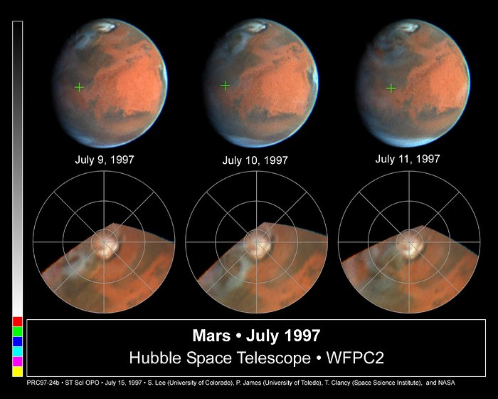Rapid Weather Changes Observed on Mars