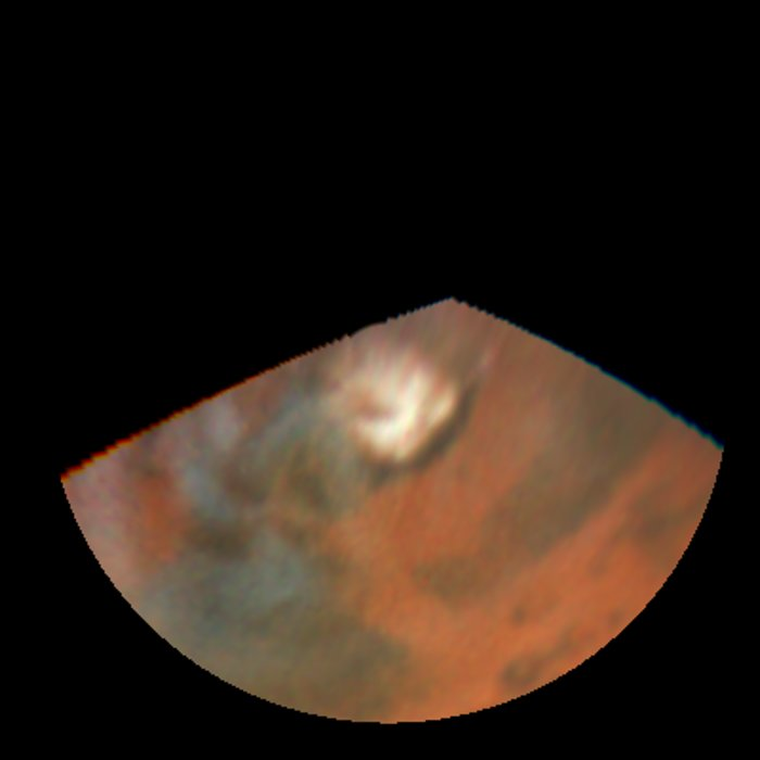 Rapid weather change observerd on Mars