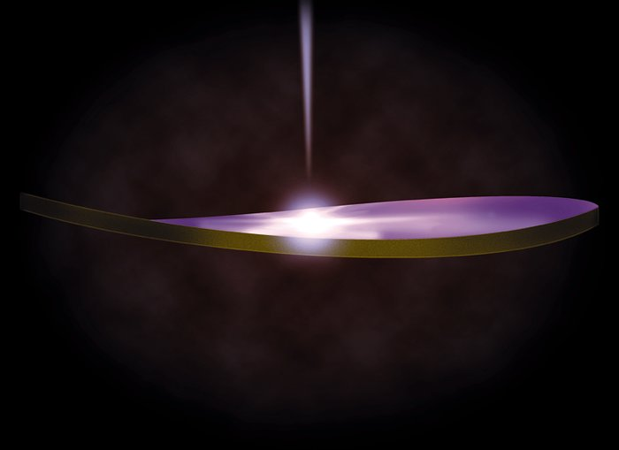 Warped Disk Around A Bright Black Hole (Artwork)