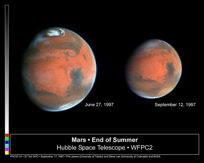 Mars Heading Towards Autumn as Mars Global Surveyor Begins Aerobraking