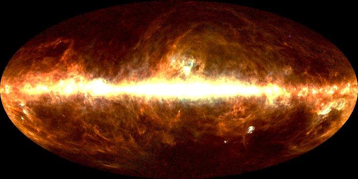 DIRBE 100 micrometer image of sky