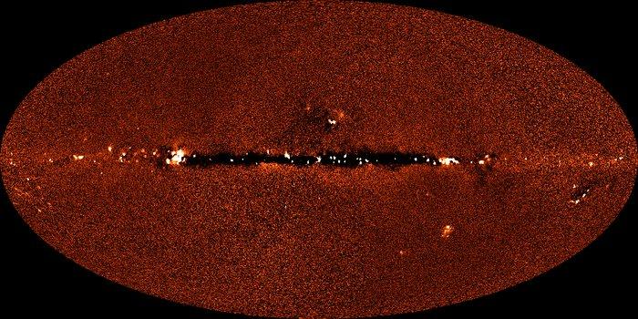 DIRBE 240 micrometer image of sky