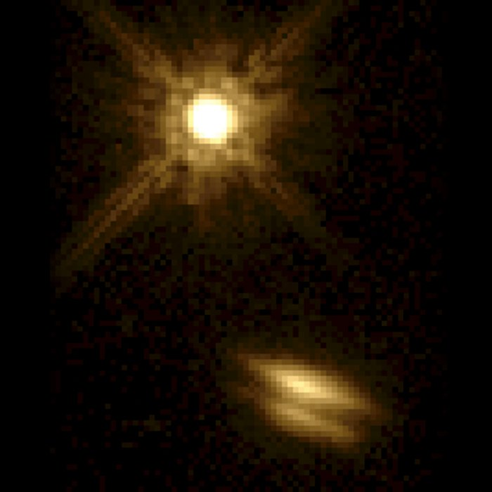 Disk Around Young Star. A View of HK Tauri