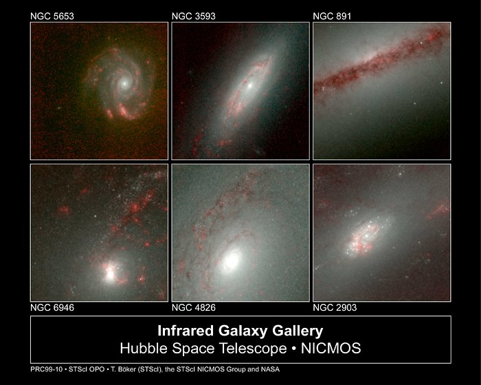 Hubble's Infrared Galaxy Gallery