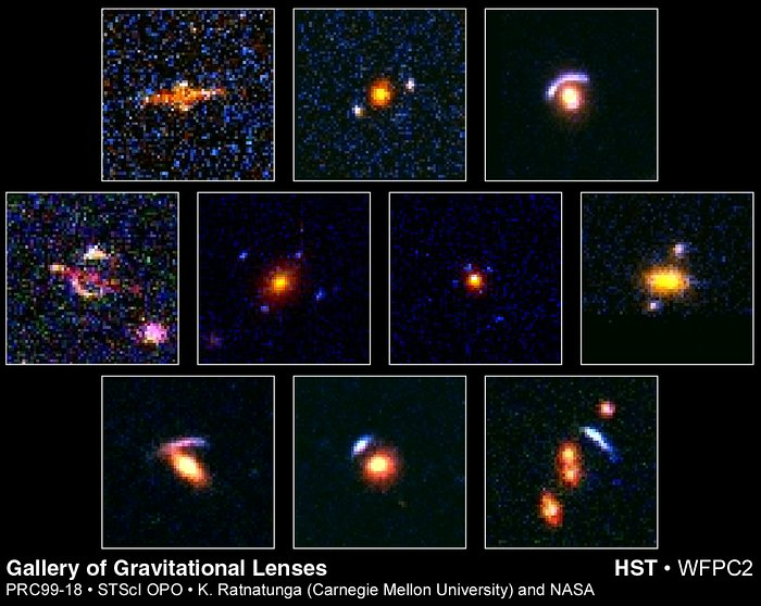 Hubble's top ten gravitational lenses