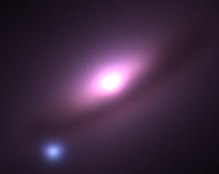 Ground-Based Image of Supernova 1994D in Galaxy NGC 4526