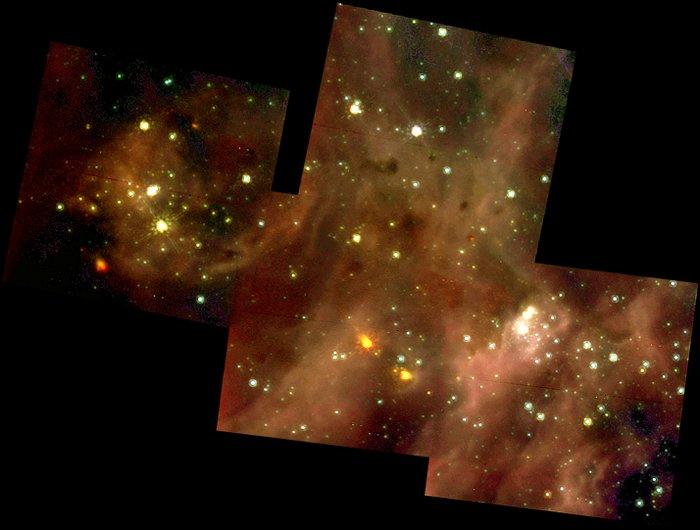 A Grand View of the Birth of 'Hefty' Stars - 30 Doradus Nebula Montage