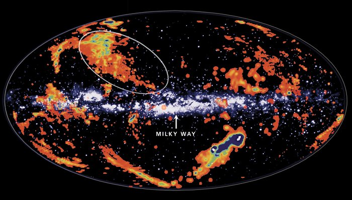 Gas Clouds Raining Star Stuff onto Milky Way Galaxy