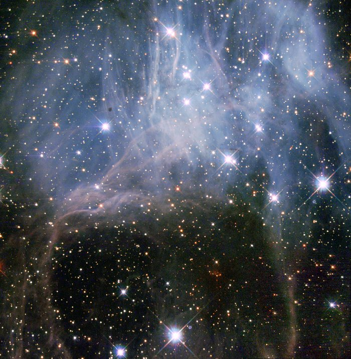 Hubble peeks inside a stellar cloud
