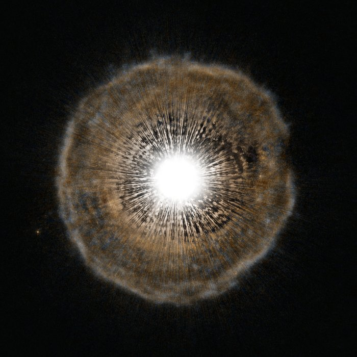 Red giant blows a bubble