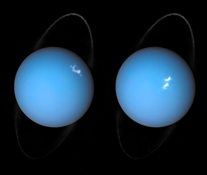 Alien aurorae on Uranus