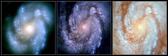 Messier 100 shows improvements of Hubble
