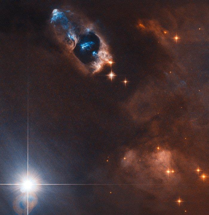The smoking gun of a newborn star