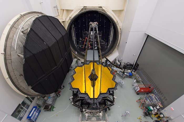 JWST OTIS set for testing in space simulation chamber