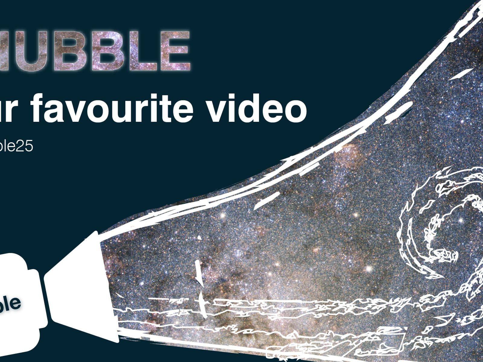 vote for your favourite ode to hubble video esa  hubble 25th Wedding Anniversary Clip Art 25th Anniversary Logo Ideas