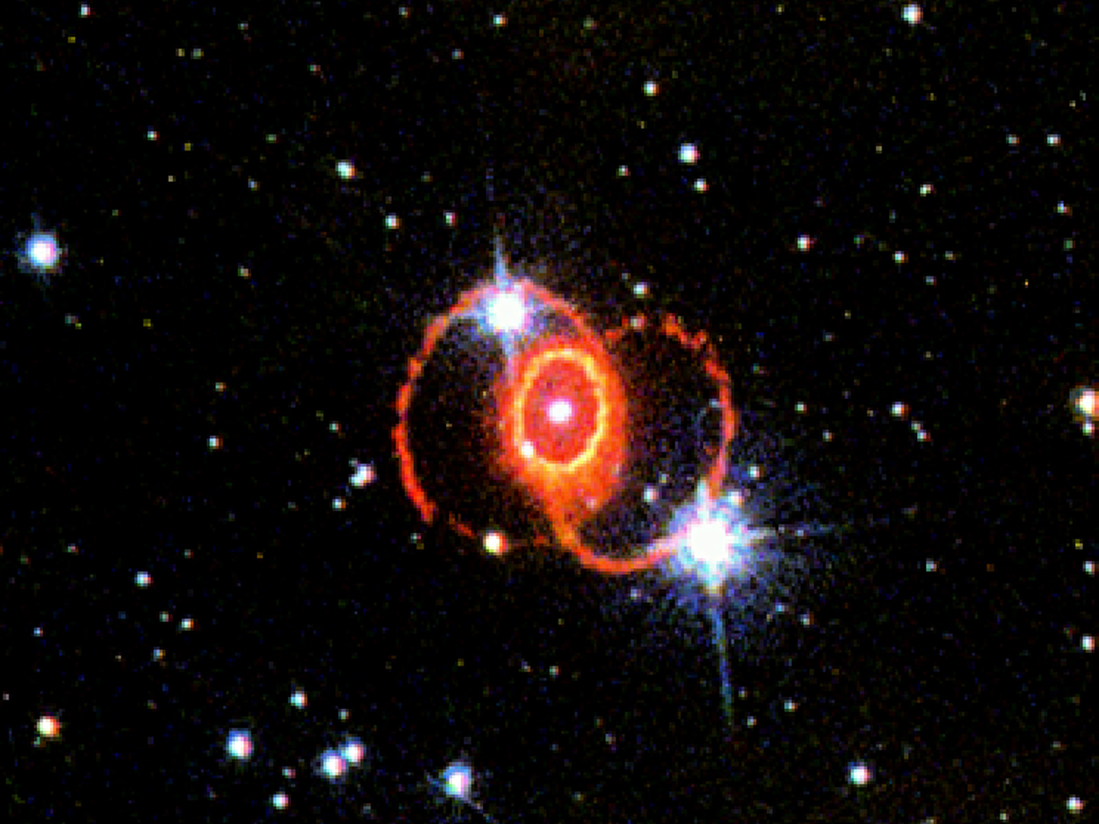 STIS Chemically Analyzes the Ring Around SN 1987a | ESA/Hubble