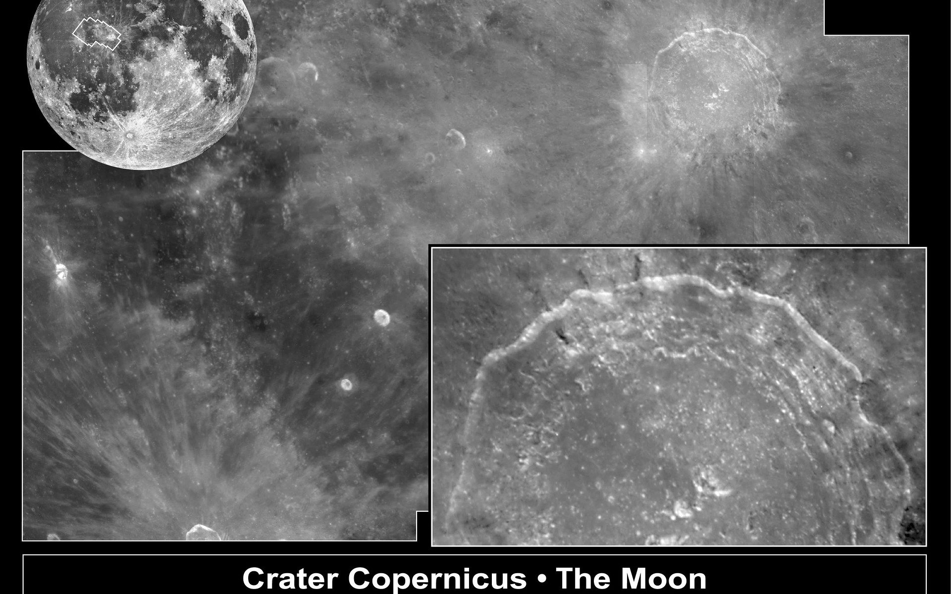 Crater Copernicus On The Moon Esa Hubble