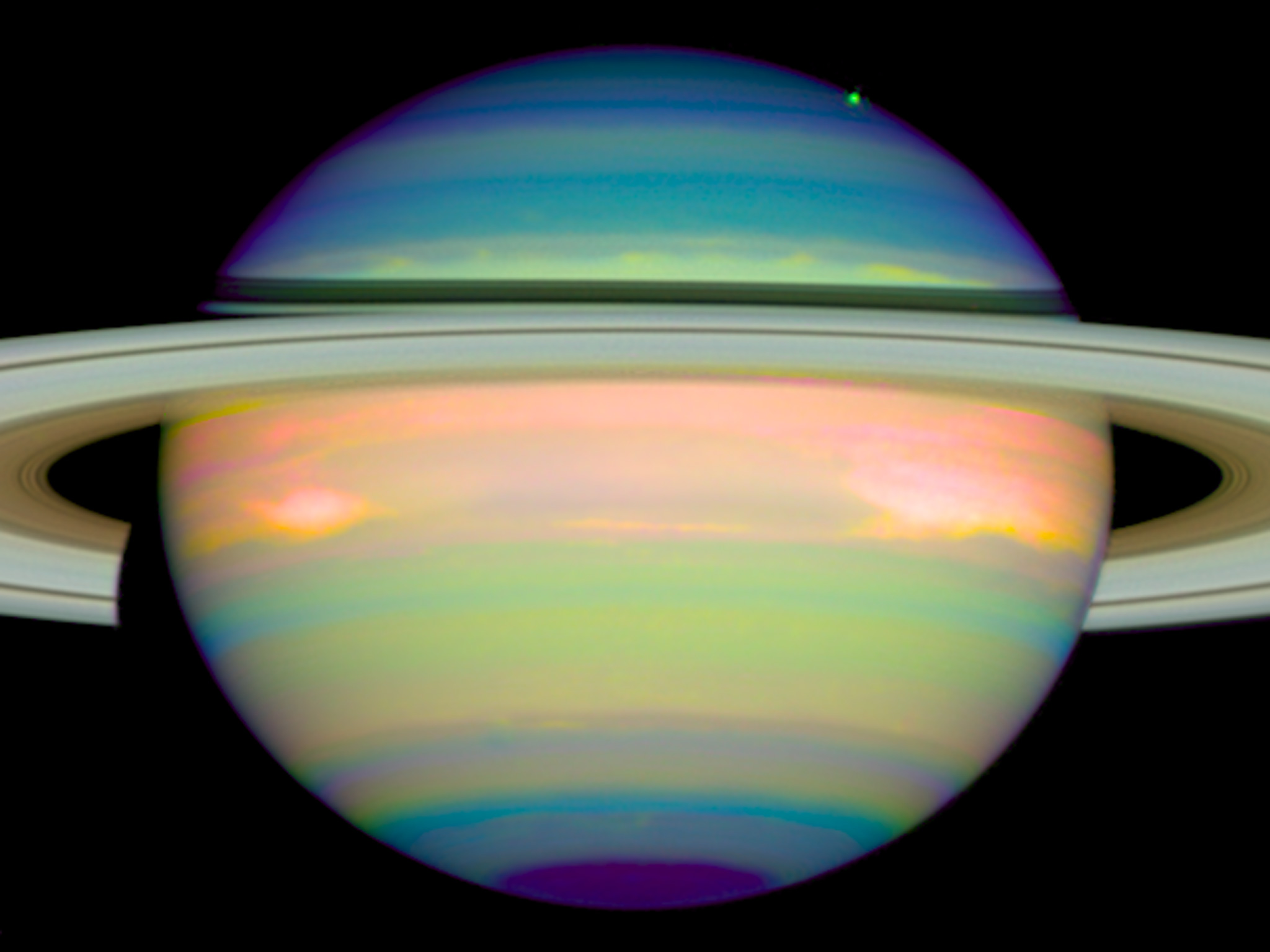 An infrared view of Saturn | ESA/Hubble