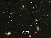 Blending between the ACS and NICMOS Hubble Ultra Deep Field