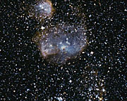 Zoom on the star-forming association LH 95