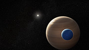 Animation of exomoon orbiting its planet
