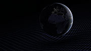 Animation of Earth and the fabric of space
