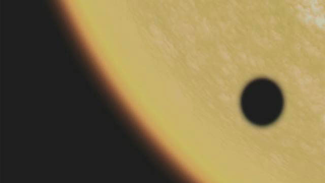 The Venus Transit 2004 - The black drop effect (artist's impression)