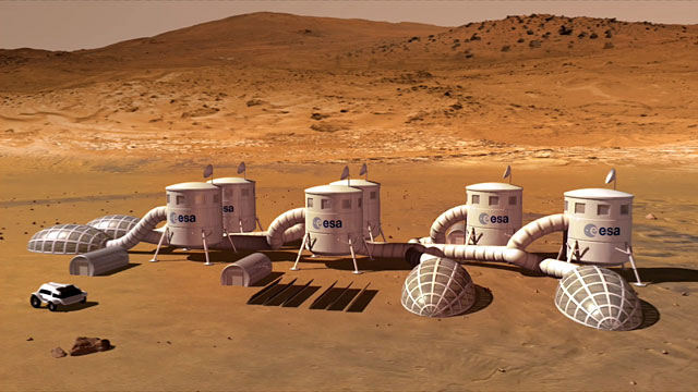 Base on Mars  (artist's impression)